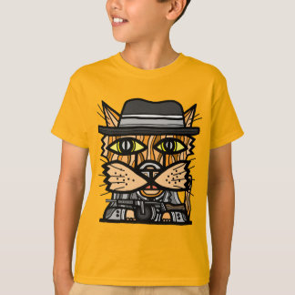 """Camiseta T-shirt do Hanes TAGLESS® dos miúdos do """"gângster"""""""