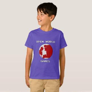 Camiseta T-shirt do Hanes TAGLESS® dos miúdos dos jogos