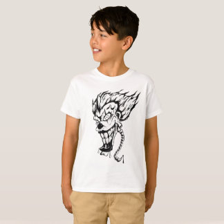 Camiseta T-shirt do Hanes TAGLESS® dos miúdos maus do