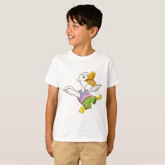 Camiseta T-shirt do Hanes TAGLESS dos miúdos que agita o