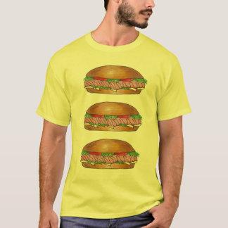 Camiseta T-shirt do herói do Hoagie do moedor do sub do