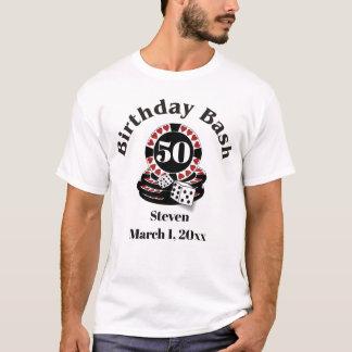 Camiseta T-shirt do homem do aniversário de Las Vegas