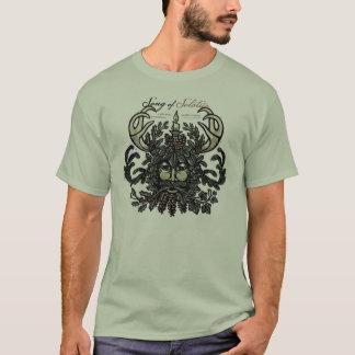 Camiseta T-shirt do homem verde de solstício de inverno