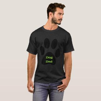 Camiseta T-shirt do impressão da pata do preto do pai do