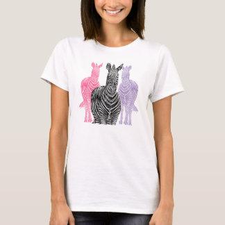 Camiseta T-shirt do impressão da zebra do trio