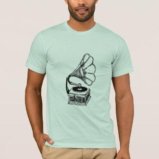 Camiseta T-shirt do impressão do alivio de Bas do fonógrafo