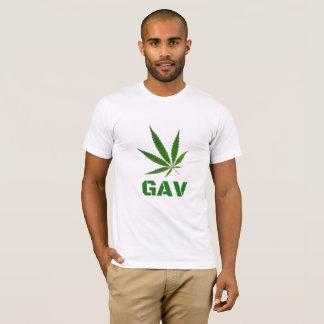 Camiseta T-shirt do impressão do logotipo de GAV