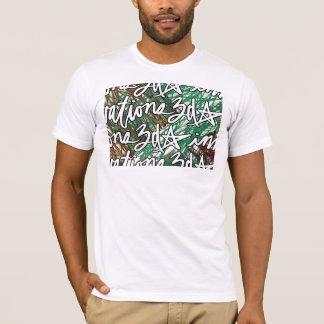 Camiseta t-shirt do impressão do Scribble do azulejo 3d