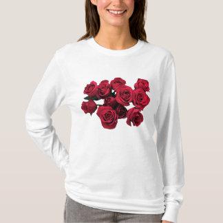 Camiseta T-shirt do jardim de flores da rosa vermelha