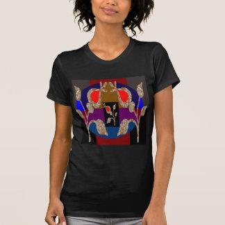 Camiseta T-shirt do jérsei da multa do roupa do ouro da