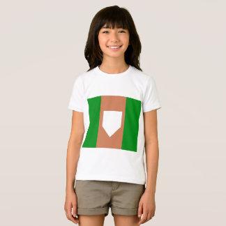 Camiseta t-shirt do jérsei das meninas do homeplate