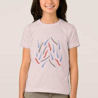 Camiseta T-shirt do jérsei das meninas do ramo