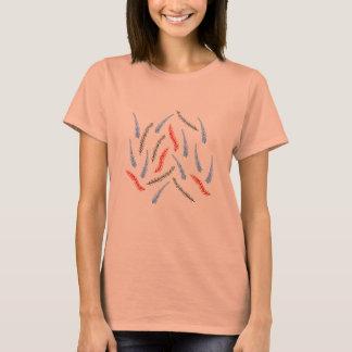 Camiseta T-shirt do jérsei das mulheres dos ramos