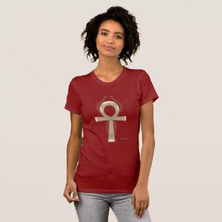 Camiseta T-shirt do jérsei das senhoras de Ankh da areia