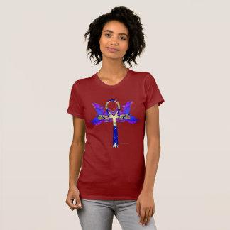 Camiseta T-shirt do jérsei das senhoras de Ankh Phoenix