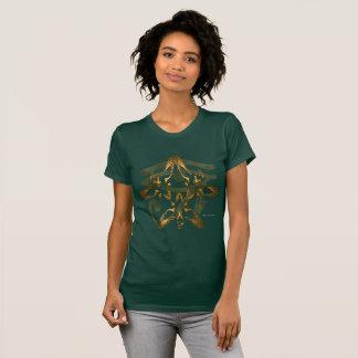 Camiseta T-shirt do jérsei das senhoras do Trifecta de Heru