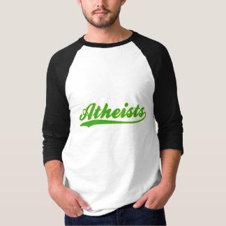 Camiseta T-shirt do jérsei de basebol do falso dos ateus