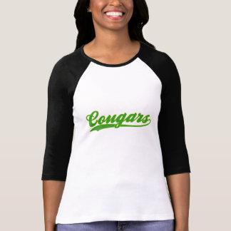 Camiseta T-shirt do jérsei de basebol do falso dos pumas