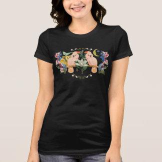 Camiseta T-shirt do jérsei do amor do papagaio