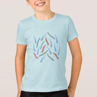 Camiseta T-shirt do jérsei dos miúdos do ramo