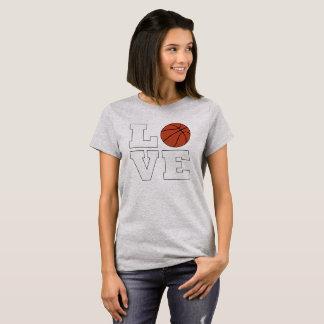 Camiseta T-shirt do jogador de basquetebol das mulheres do