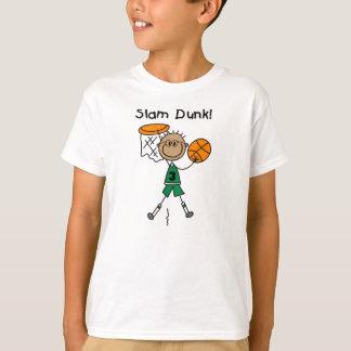 Camiseta T-shirt do jogador de basquetebol do menino do