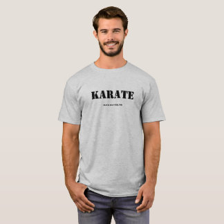 Camiseta T-shirt do karaté