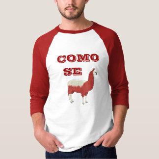 Camiseta T-shirt do LAMA do SE de COMO