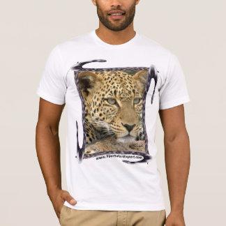 Camiseta T-shirt do leopardo com quadro da cauda do