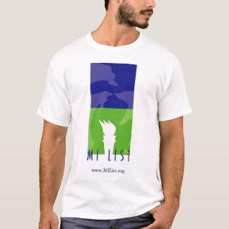 Camiseta T-shirt do logotipo da lista do MI