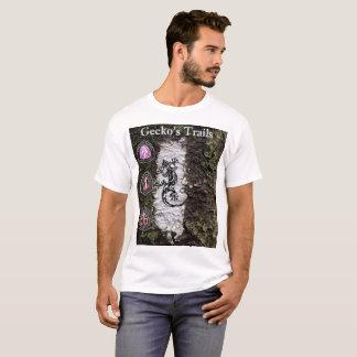 Camiseta T-shirt do logotipo das fugas do geco