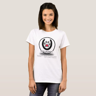 Camiseta T-shirt do logotipo de Hoofbeats e de Pawprints