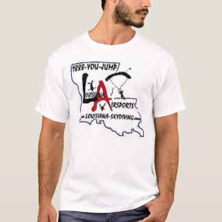 Camiseta t-shirt do logotipo de Louisiana-Skydiving.com