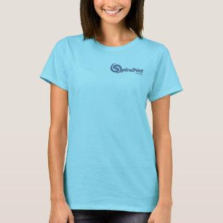 Camiseta T-shirt do logotipo do design de SpiralNet