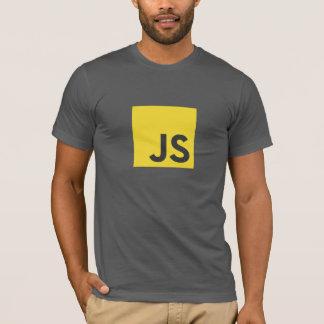 Camiseta T-shirt do logotipo do Javascript (cinza escuro)