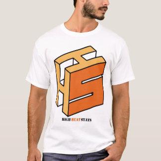 Camiseta T-shirt do logotipo do Stats do calor elevado