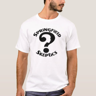 Camiseta T-shirt do logotipo dos cépticos de Springfield