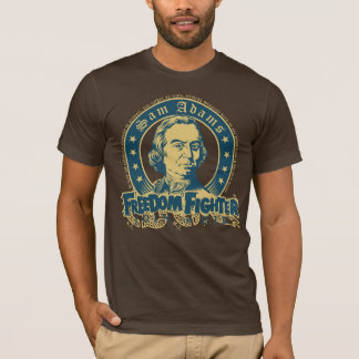 Camiseta T-shirt do lutador da liberdade de Sam Adams