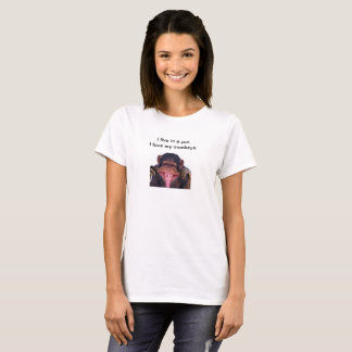 Camiseta T-shirt do macaco da mãe