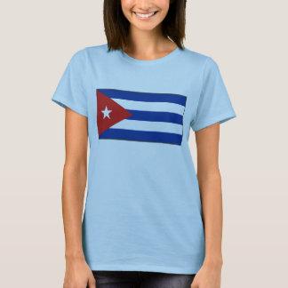 Camiseta T-shirt do mapa da bandeira x de Cuba