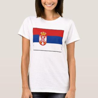 Camiseta T-shirt do mapa da bandeira x de Serbia