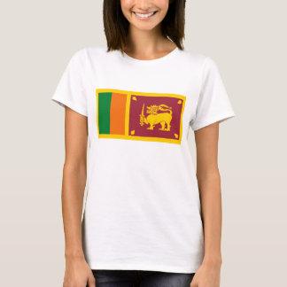 Camiseta T-shirt do mapa da bandeira x de Sri Lanka