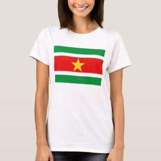 Camiseta T-shirt do mapa da bandeira x de Suriname