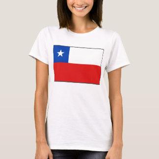 Camiseta T-shirt do mapa da bandeira x do Chile