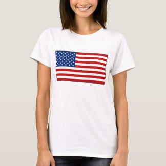 Camiseta T-shirt do mapa da bandeira x dos EUA