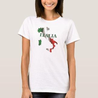 Camiseta T-shirt do mapa das senhoras Italia