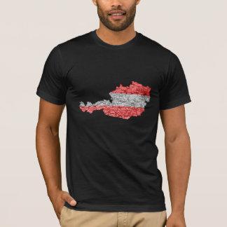 Camiseta T-shirt do mapa de Áustria Flagcolor