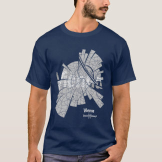 Camiseta T-shirt do mapa de Viena