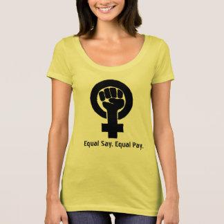 Camiseta T-shirt do março das mulheres feministas