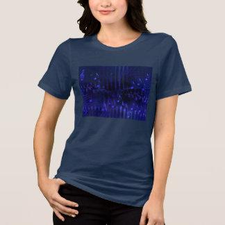 Camiseta T-shirt do marinho das mulheres - imagem roxa da